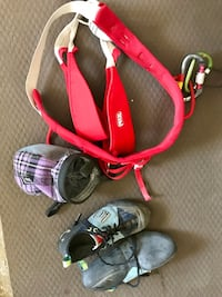 Ladies climbing package. Five ten shoes (6.5) and petzl harness Calgary, T2N 0E8