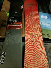 two black and red snowboard decks Calgary, T3C 3X6