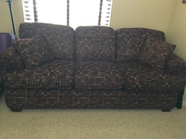 Used Lazyboy Queen sleeper sofa with aero bed mattress. for sale in ...