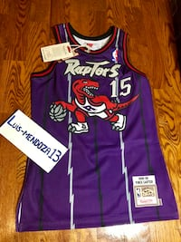 New Mitchell & Ness Vince Carter Raptor jersey. Size 36 (Small). No Trades Toronto, M6E