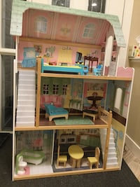 white, beige, and pink 3-tier doll house Calgary, T3B 5X3