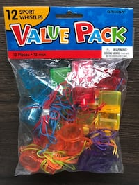 Value pack of party whistles never opened
