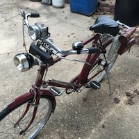 1940's Phillips 3 speed. Leather saddle bags, brandy flask, and more.