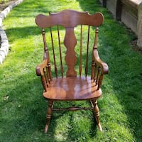 brown wooden windsor rocking chair Ellicott City, 21042