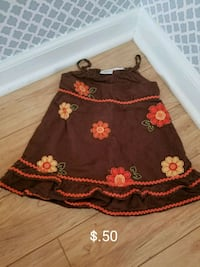 black and red floral skirt 370 mi