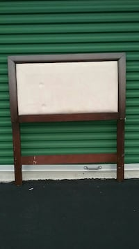 Wood and Micro-Suede Twin Size Headboard