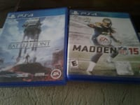 Star wars battlefront and Madden nfl 15 sony ps4 g Clarksville, 37043