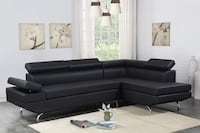 [CLEARANCE] Moderno Black Sectional Regular Price: $719.00 Houston, 77036