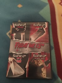 Friday the 13th dvd 4 movies in one box 1-4 with 2 pairs of 3D glasses