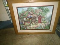 brown wooden framed painting of house Muscle Shoals, 35661