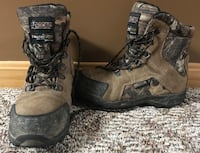 Kid's Rocky Outdoor Boots Brown/Camo Size 5M