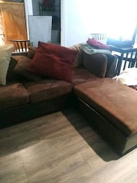 Sectional couches.