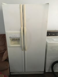white side by side refrigerator with dispenser Plano, 75093