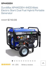 Duromax Hybrid Duel Generator 4400 *used once Lakewood, 90712