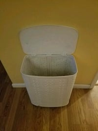 White painted wicker hamper Howell, 07731