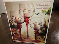 two white-and-red floral print drinking glasses Surrey, V4N 0B2