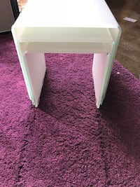 Tangkula 3 piece end tables in White Glass