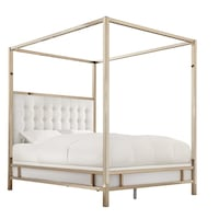 BRAND NEW IN BOX never used metallic king sized canopy bed  Miami, 33138