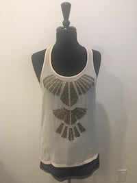 New beaded tank size S  Oakville, T1Y
