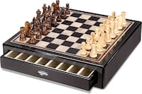 Faux Carbon Fiber and Mother-of-Pearl Chess set Katy