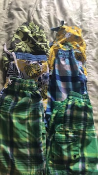 Green, blue, and white swimming shorts size 5 and 3 London, N6E 2B2