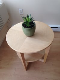 round brown wooden table with two chairs Laval, H7W 5E7