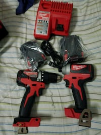 red and black Milwaukee cordless power drill The Bronx, 10457