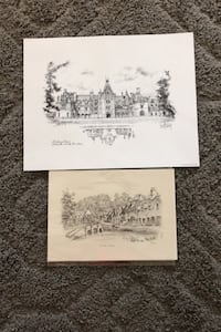 Art sketches - reproductions- Biltmore house Pottstown, 19465