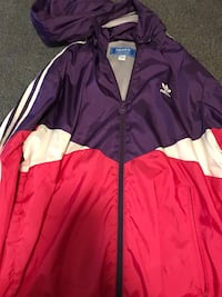 red and purple Adidas zip-up jacket Tabor City