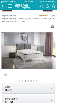 Queen size mattress and base Baltimore, 21201