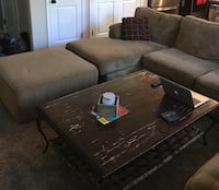 Large Three-piece Sectional Couch with Chaise Lounge and Ottoman Puyallup, 98375