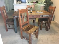 brown wooden table with chairs Los Angeles, 91403