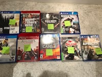 six assorted PS4 game cases Toronto, M2N 7K2