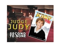 """The RARE - JUDGE JUDY """"Second To None"""" Dvd ( Out of Print)"""
