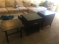 2 Nighstands and 1 End Table : 3 pieces