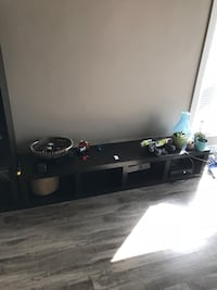 black and gray wooden TV stand Calgary, T2W 1Z2