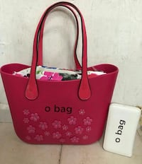 tote bag in pelle rossa da donna
