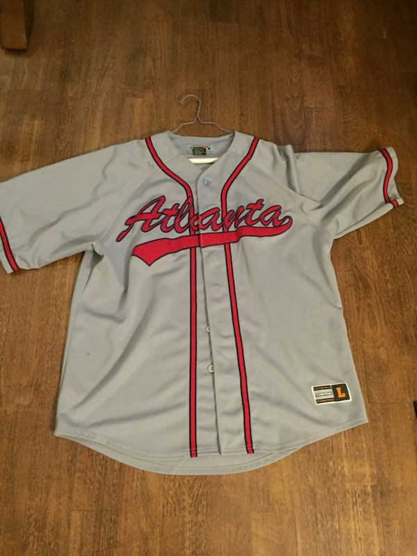 premium selection f6c4f cd800 Used Grey and Red Atlanta Braves Jersey for sale in Oxford ...