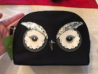 Kate Spade Owl Cosmetic Bag Brand New Leesburg, 20176