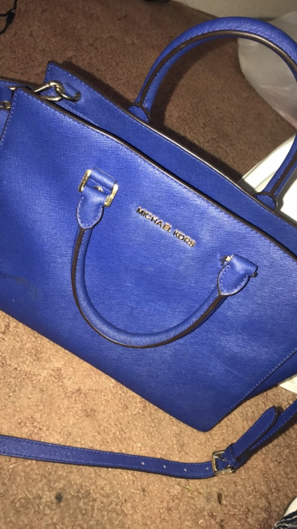 ed8b267c9a0571 Used blue leather Michael Kors tote bag for sale in Bay Saint Louis - letgo
