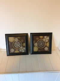 Two brown wooden framed wall decors Zorra, N0J 1J0