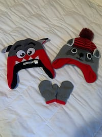Size 12-24 month hats and mittens