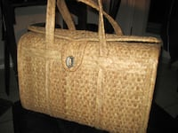Brand New Straw Weaved Beach Weekender Bag Purse