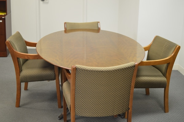 Oval Conference Table.