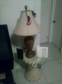 white and brown table lamp Fort Lauderdale, 33311