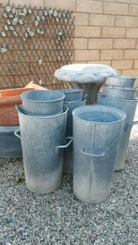 cylindrical gray metal container lot Palm Springs, 92262