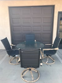 Project 62 Avalon Patio Dining Set 4 Chairs & 1 Table Black ROWLAND HGHTS, 91748