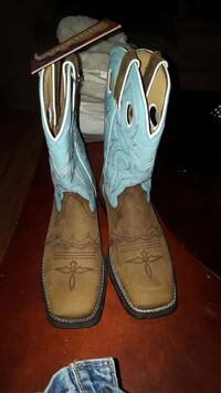 brown-and-teal cowboy boots Roland, 50236