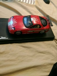 Fast and Furious red coupe scale model Red Deer