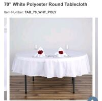 12 round tablecloths